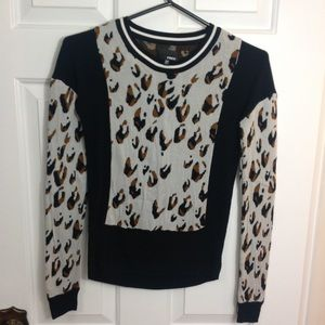Wilfred Free Animal Print Panelled Sweater
